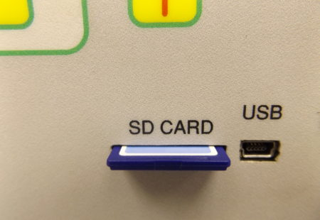 Picture of SD card slot and USB port